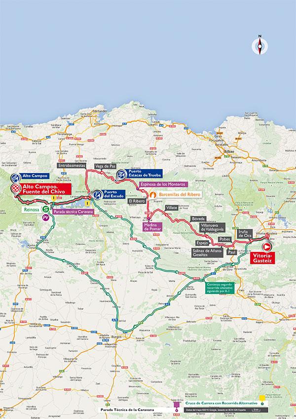 Маршрут 14 этапа Вуэльты Испании 2015