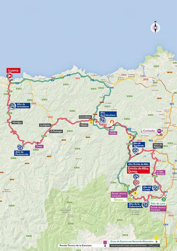 Маршрут 16 этапа Вуэльты Испании 2015