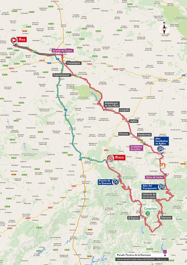 Маршрут 18 этапа Вуэльты Испании 2015