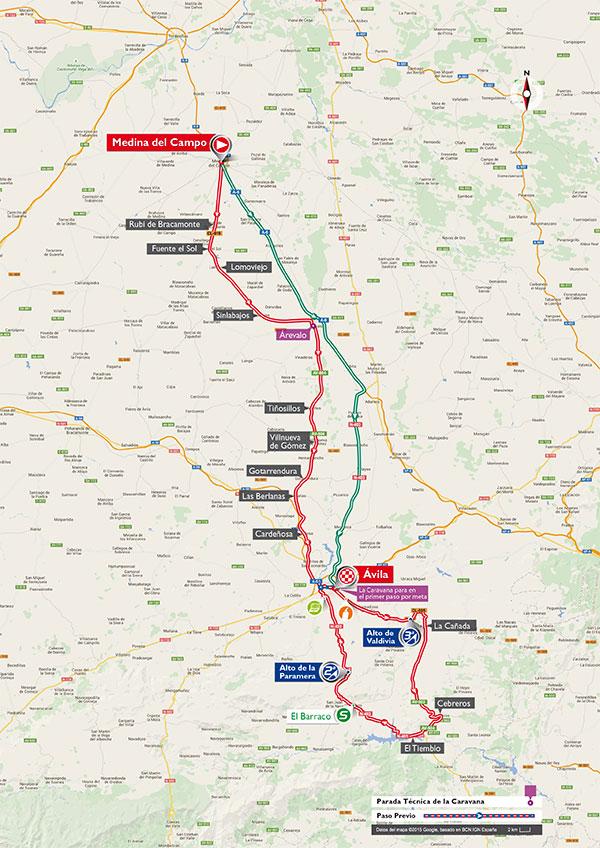 Маршрут 19 этапа Вуэльты Испании 2015