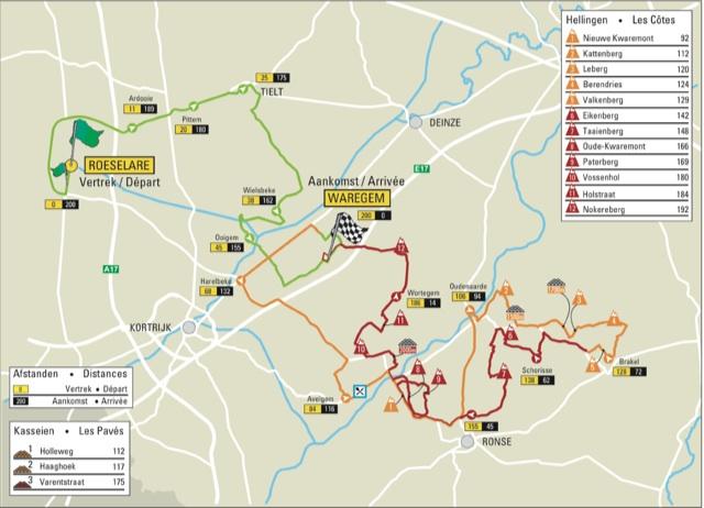 Дварс Фландрии 2016 карта маршрута