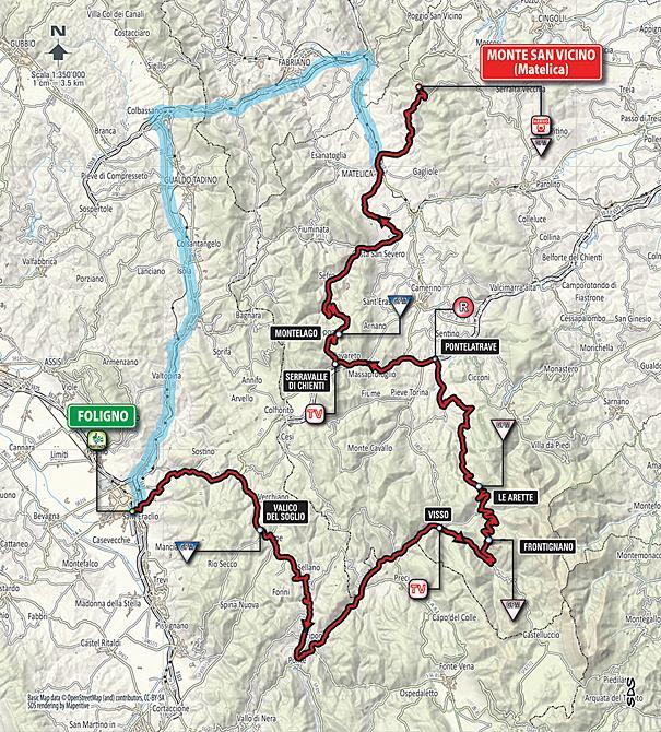 Маршрут 5 этапа Тиррено-Адриатико 2016
