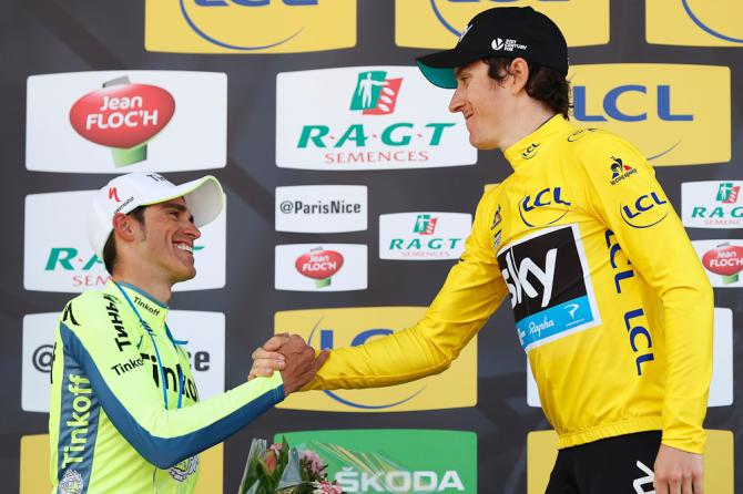 Alberto Contador и Geraint Thomas (Getty Images Sport)