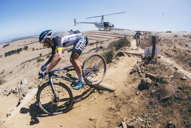 Karl Platt and Urs Huber riding to victory in the prologue (Mark Sampson/Cape Epic/Sportzpics)