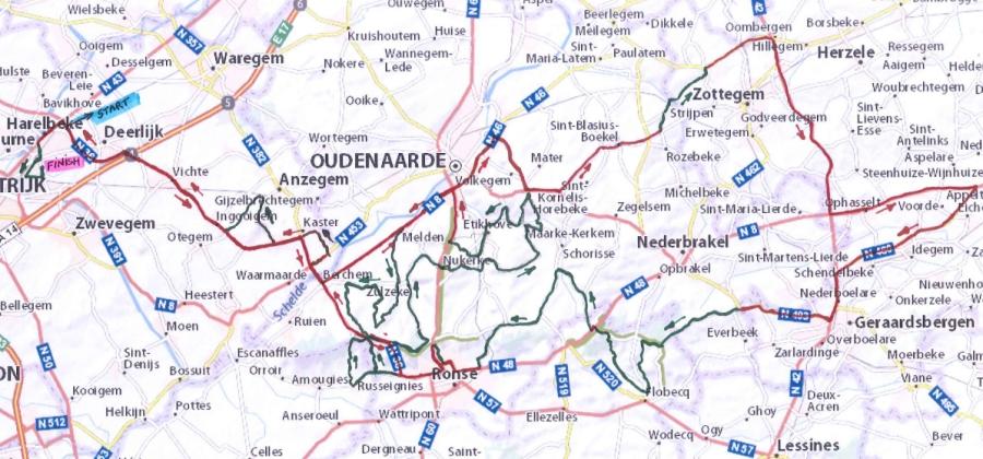E3 Harelbeke Приз Фландрии 2016 маршрут