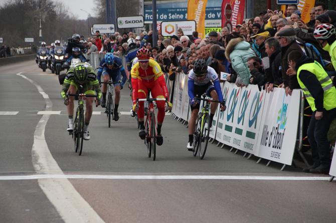 Olivier Pardini (Wallonie Bruxelles) выигрывает второй этап Tour de Normandie 2016