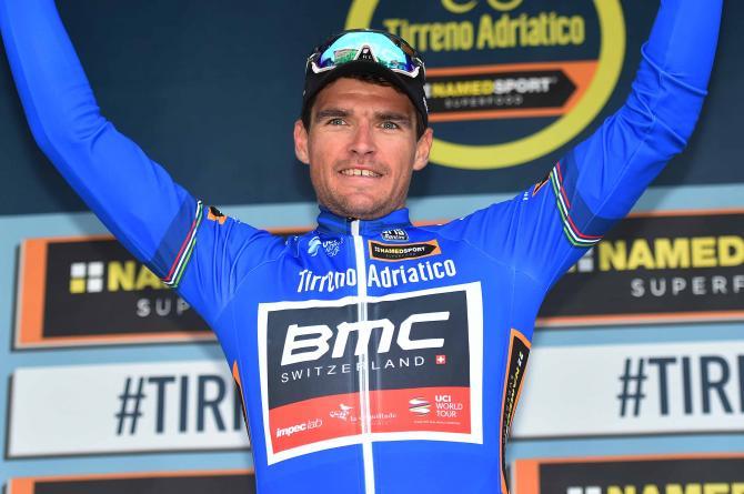Greg van Avermaet (BMC Racing) in the lead at Tirreno-Adriatico (Tim de Waele/TDWSport.com)