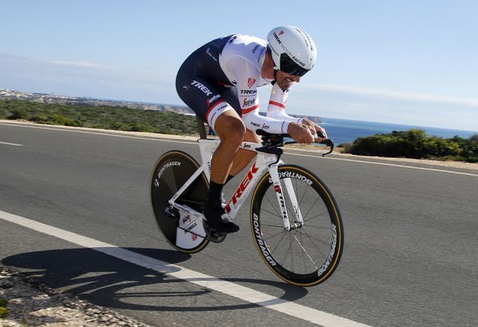 Fabian Cancellara (Trek - Segafredo) takes the time trial victory in Algarve (Bettini Photo)