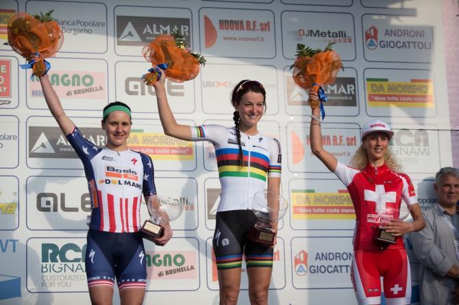 Trofeo Alfredo Binda 2016 подиум
