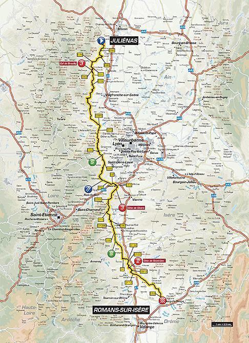Маршрут 4 этапа Париж-Ницца 2016