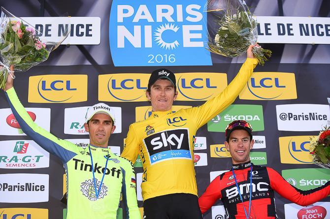 Contador, Thomas и Porte на финальном подиуме(Tim de Waele/TDWSport.com)