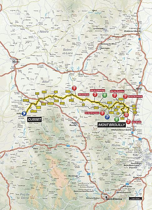 Маршрут 3 этапа Париж-Ницца 2016