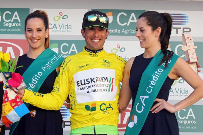Imanol Estevez (Euskadi Basque Country-Murias) выиграл первый этап и желтую майку на Вольта ао Алентежу. (Volta ao Alentejo)