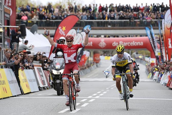 DAleksei Tsatevich (Rus) Team Katusha, Primoz Roglic (Slo) Team LottoNl-Jumbo (Tim de Waele/TDWSport.com)
