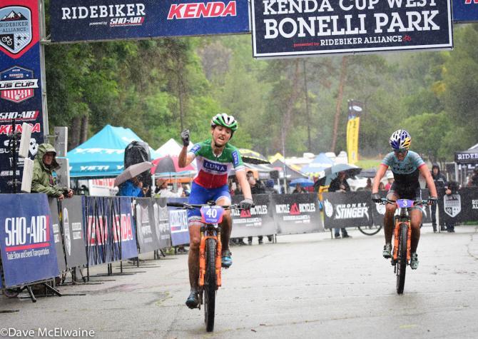 Eva Lechner (Luna Pro Team) победительница Bonelli Park Pro-XCT (фото: Dave McElwaine)