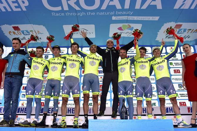 Tinkoff выйграла триал на время на Tour of Croatia (фото: Bettini Photo)