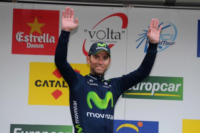 Alejandro Valverde (Movistar) на подиуме (фото: Tim de Waele/TDWSport.com)