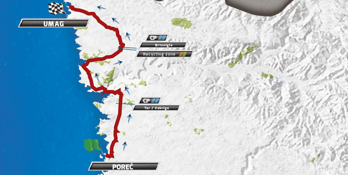 Карта маршрута 5 этапа Тура Хорватии 2016