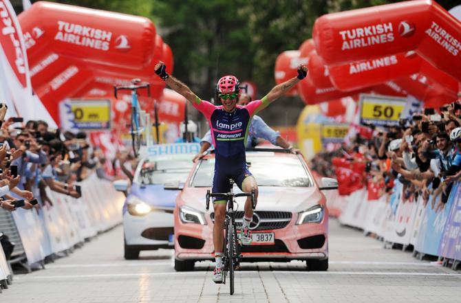 Przemyslaw Niemiec (Lampre-Merida) победитель первого этапа Тура Турции (фото: Tour of Turkey)