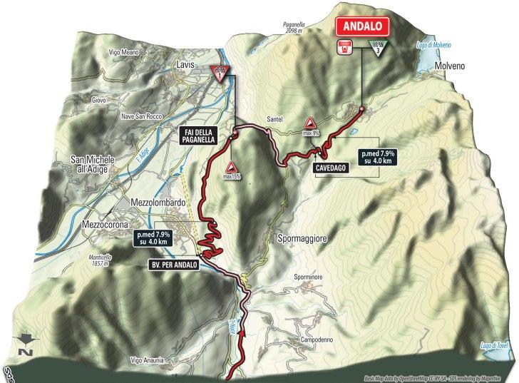Финальные километры шестнадцатого этапа в 3D