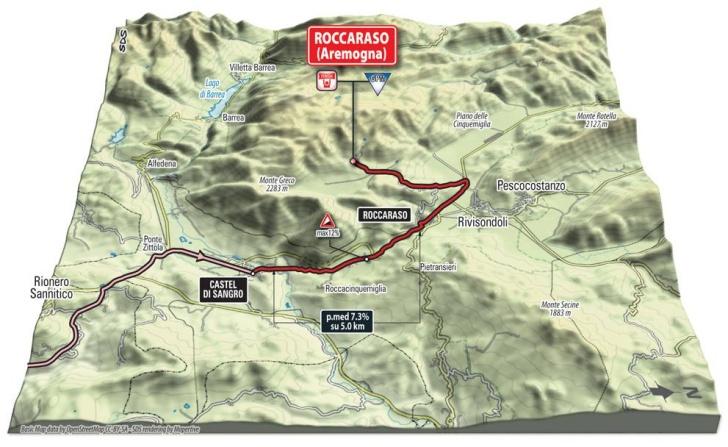 Финальные километры шестого этапа в 3D