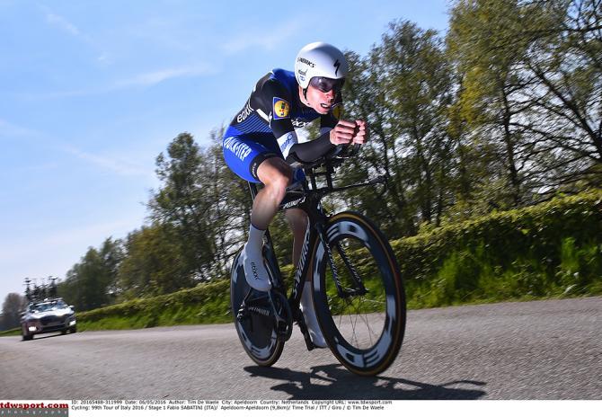 Fabio Sabatini (Etixx-QuickStep) гонка на время (фото: Tim de Waele/TDWSport.com)