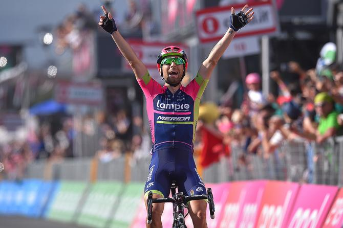 Diego Ulissi (Lampre-Merida) победитель 4-го этапа Джиро д'Италия (фото: Tim de Waele/TDWSport.com)