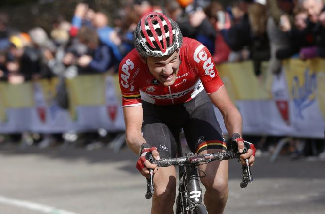 Tim Wellens (Lotto Soudal) атакует (фото: Tim de Waele/TDWSport.com)