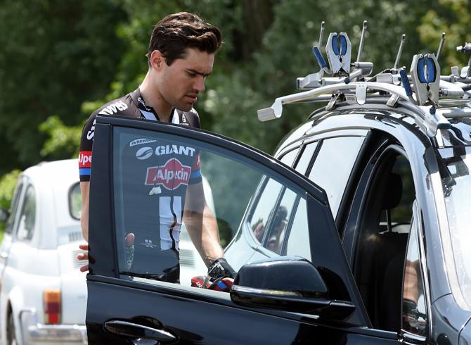 Tom Dumoulin покидает Джиро д'Италии (фото: Bettini Photo)