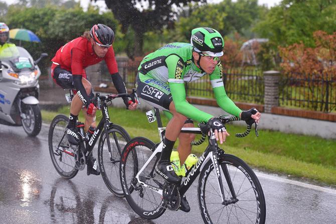 Daniel Oss (BMC) and Mirco Maestri (Bardiani) (фото: Tim de Waele/TDWSport.com)