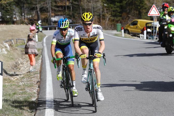 Steven Kruijswijk (LottoNl-Jumbo) и Esteban Chaves (Orica-GreenEdge) 14-й этап(фото: Getty Images Sport)