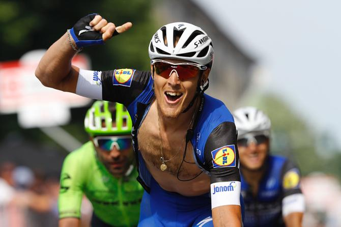 Matteo Trentin (Etixx-QuickStep) победитель 18-го этапа Джиро д'Италия (фото: Getty Images Sport)