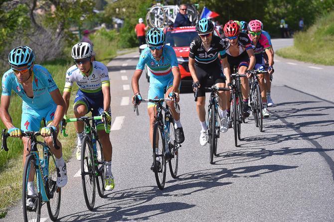 Нибали, Чавес в лидирующей группе на этапе 19. (фото: Tim de Waele/TDWSport.com)
