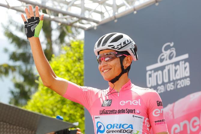 Esteban Chaves (Orica-GreenEdge) на старте 20-го Джиро д'Италия 2016 (фото: Getty Images Sport)