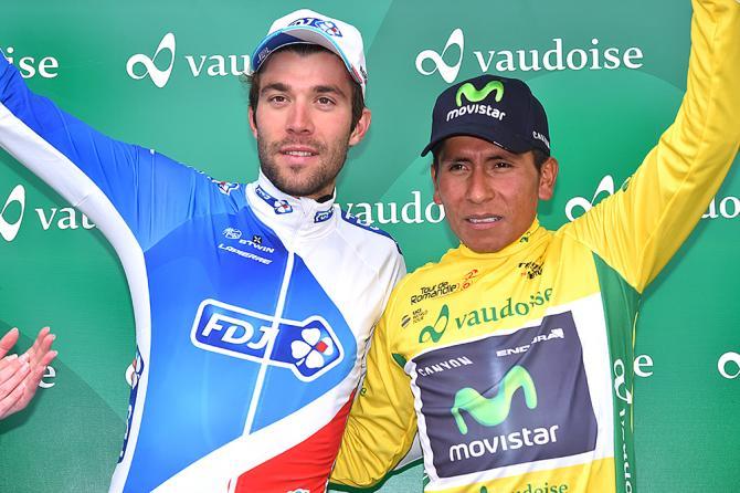 Thibaut Pinot (FDJ) и Nairo Quintana (Movistar). (фото: Tim de Waele/TDWSport.com)