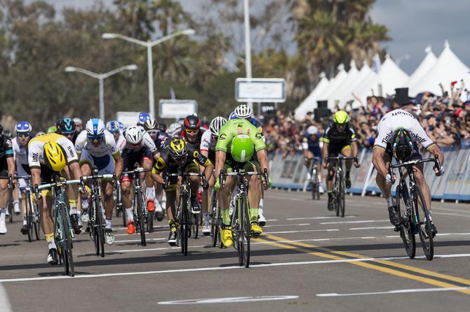 Петер Саган 14-й раз выигрывает этап Тура Калифорнии перед Wouter Wippert (фото: Jonathan Devich/epicimages.us)