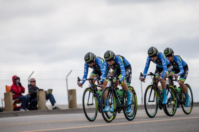 Команда TIBCO по дороге к финишу (фото: Jonathan Devich/epicimages.us)