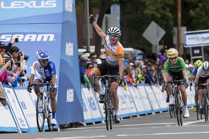 Мэриэнн Вос (Rabo Liv) выигрывает 3 этап Amgen Женского Тура Калифорнии (фото: Jonathan Devich/epicimages.us)