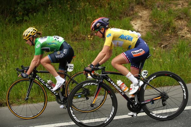 Emma Johansson (Wiggle High5) и Megan Guarnier (Boels Dolmans) (фото: Getty Images Sport)