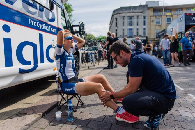 Lotta Lepistö's массаж перед гонкой, оказалось, был хорошим (фото: Sean Robinson/Velofocus)