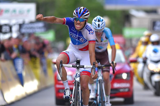Thibaut Pinot (FDJ) wins the stage (фото: Tim de Waele/TDWSport.com)