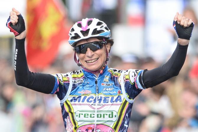 Edwige Pitel (SC Michela Fanini Rox) празднует свою победу (фото: Getty Images Sport)