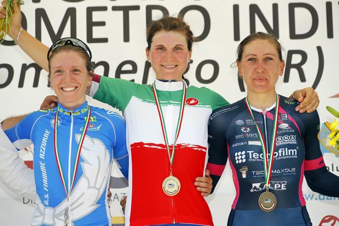 Elisa Longo Borghini (Wiggle High5) первая в гонке на время (фото: Bettini Photo)