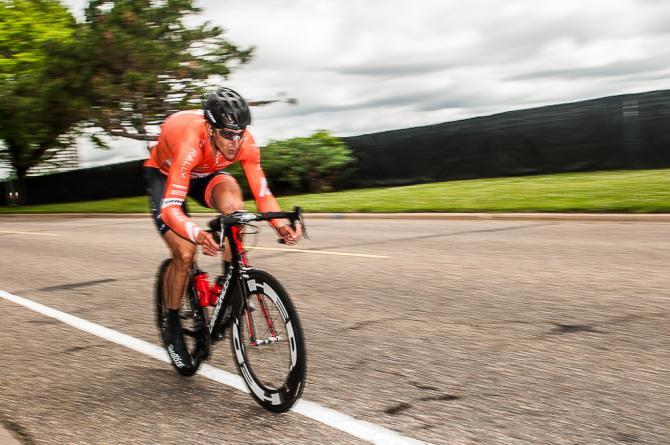 Tom Zirbel (Rally Cycling) единственны на 1-м этапе показавший время меньше десяти минут, 9:59.31. (фото: Matthew Moses/Moses Images)