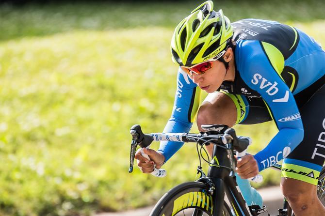 Brianna Walle (Team Tibco-SVB) победила на 1-м этапе в гонке с раздельным стартом, показав время 10:55.30 (фото: Matthew Moses/Moses Images)