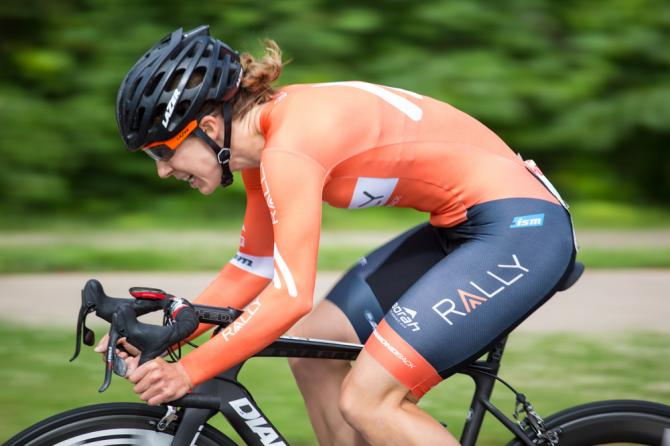 Heather Fischer (Rally Cycling) finished 7th during North Star Grand prix stage 1 . (фото: Sam Wiebe)