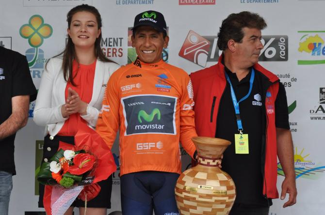 Movistar's Nairo Quintana celebrates his second career Route du Sud victory (фото: La Route du Sud)