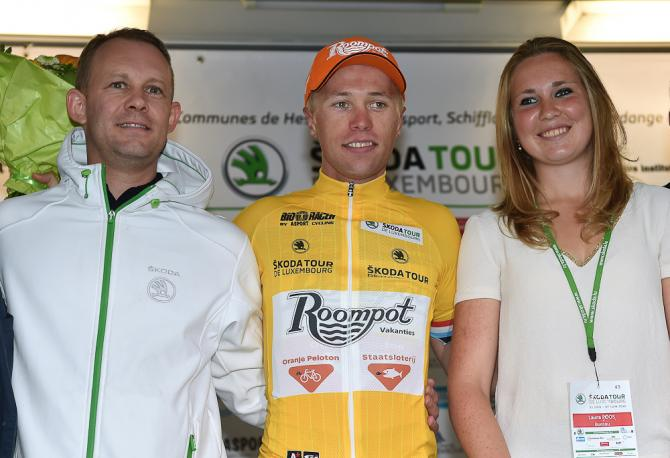 Maurits Lammertink in yellow after stage 3. (фото: Tim de Waele/TDWSport.com)