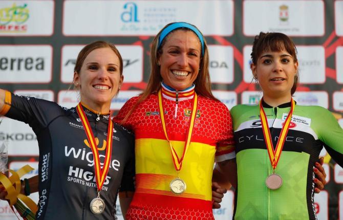 Испанский женский пьедестал шоссейных гонок 2016 года (фото: RFEC)