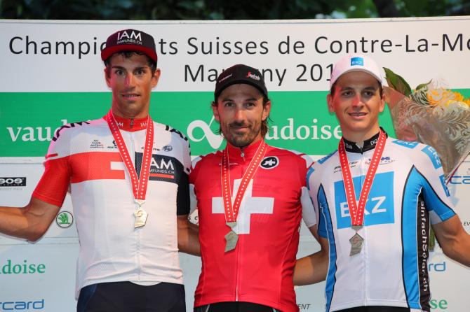 The 2016 Swiss time trial podium (фото: Trek-Segafredo)